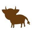cow farm animal silhouette icon vector image vector image