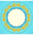 Decorative round frame with shells vector image