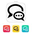 Dialogue bubble icon vector image vector image