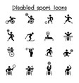 disabled sport icons set graphic design vector image