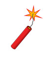 dynamite isolated on white background design vector image