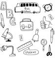 Element school in doodle vector image vector image