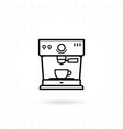 espresso coffee machine icon vector image vector image