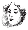 face a caucasian person vintage engraving vector image vector image