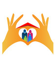 family people with hands creating heart vector image