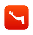 flabby arm cosmetic correction icon digital red vector image vector image