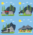 flat design countryside forest vector image