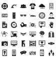 game over icons set simple style vector image vector image