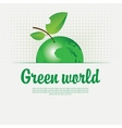 Green banner with with a picture of the planet vector image vector image