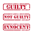Grunge rubber stamps about justice vector image