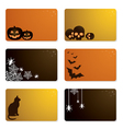 halloween gift cards vector image vector image