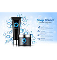 hand cream black tube and bottle on soft white and vector image vector image