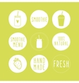 Hand drawn smoothie labels vector image vector image