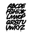Hand written graffiti font alphabet vector image vector image