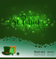 happy stpatricks daylight with blurred bokeh on vector image vector image