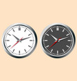 images of wall clocks world time concept vector image vector image