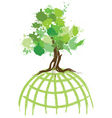 ink splat tree world vector image vector image