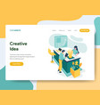 landing page template creative idea concept vector image vector image