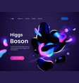 landing page template with a dark scifi background vector image