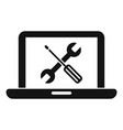 laptop repair icon simple style vector image vector image