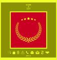 laurel wreath with five stars - design symbol vector image vector image