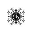 letter b ornament of boutique logo design vector image