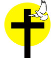 logo of cross and dove vector image