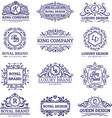 luxury labels monochrome set vector image vector image