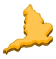 Map of United Kingdom icon cartoon style vector image vector image