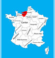 map state upper normandy location on fr vector image vector image