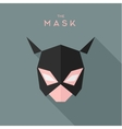 Mask girl Hero superhero flat style icon vector image vector image