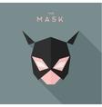 Mask girl Hero superhero flat style icon vector image