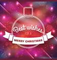 merry christmas congratulate poster vector image vector image
