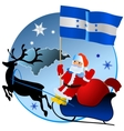 Merry Christmas Honduras vector image vector image