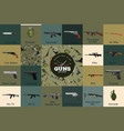 military gun set automatic and hand weapon in vector image vector image