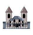 modern castle icon image vector image vector image