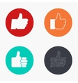 modern thumb up colorful icons set vector image