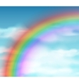 Natural background with rainbow vector image