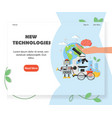 new technologies website homepage design vector image