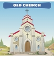 old church closeup in wild west vector image vector image