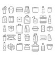 package and box line icons vector image vector image