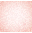 pink background with rose and heart vector image vector image