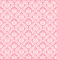 pink damask wallpaper vector image vector image