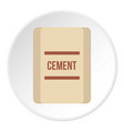 pouch of cement icon flat style vector image vector image