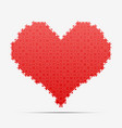 red piece puzzle heart valentines day love vector image