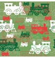 Seamless background with the steam locomotives vector image vector image