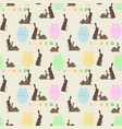 seamless bright background with easter bunnies vector image