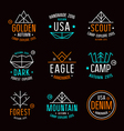 Set of badges in thin line style vector image