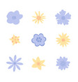 set of flowers for the spring season vector image vector image