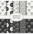 Set of monochrome hipster fashion geometric vector image vector image